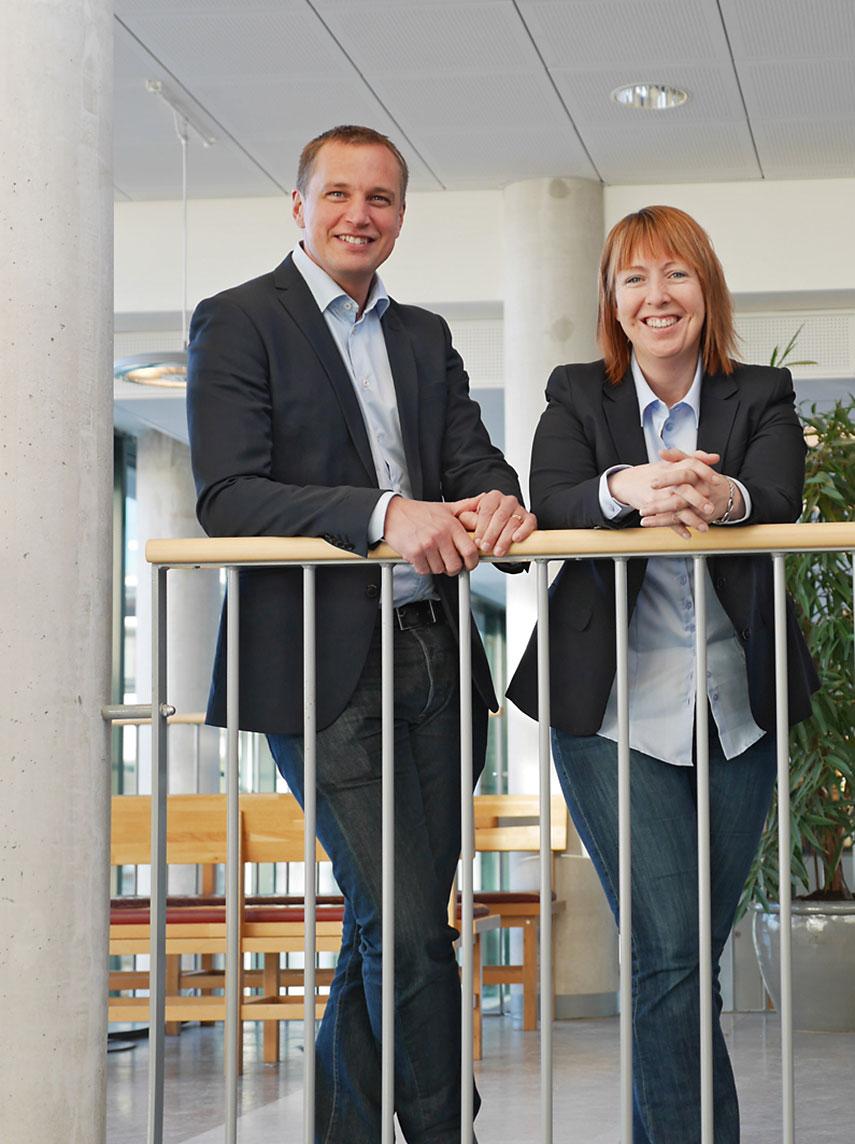 Programchef Peter Wallin och vår nytillträdda programstrateg Malin Rosqvist.