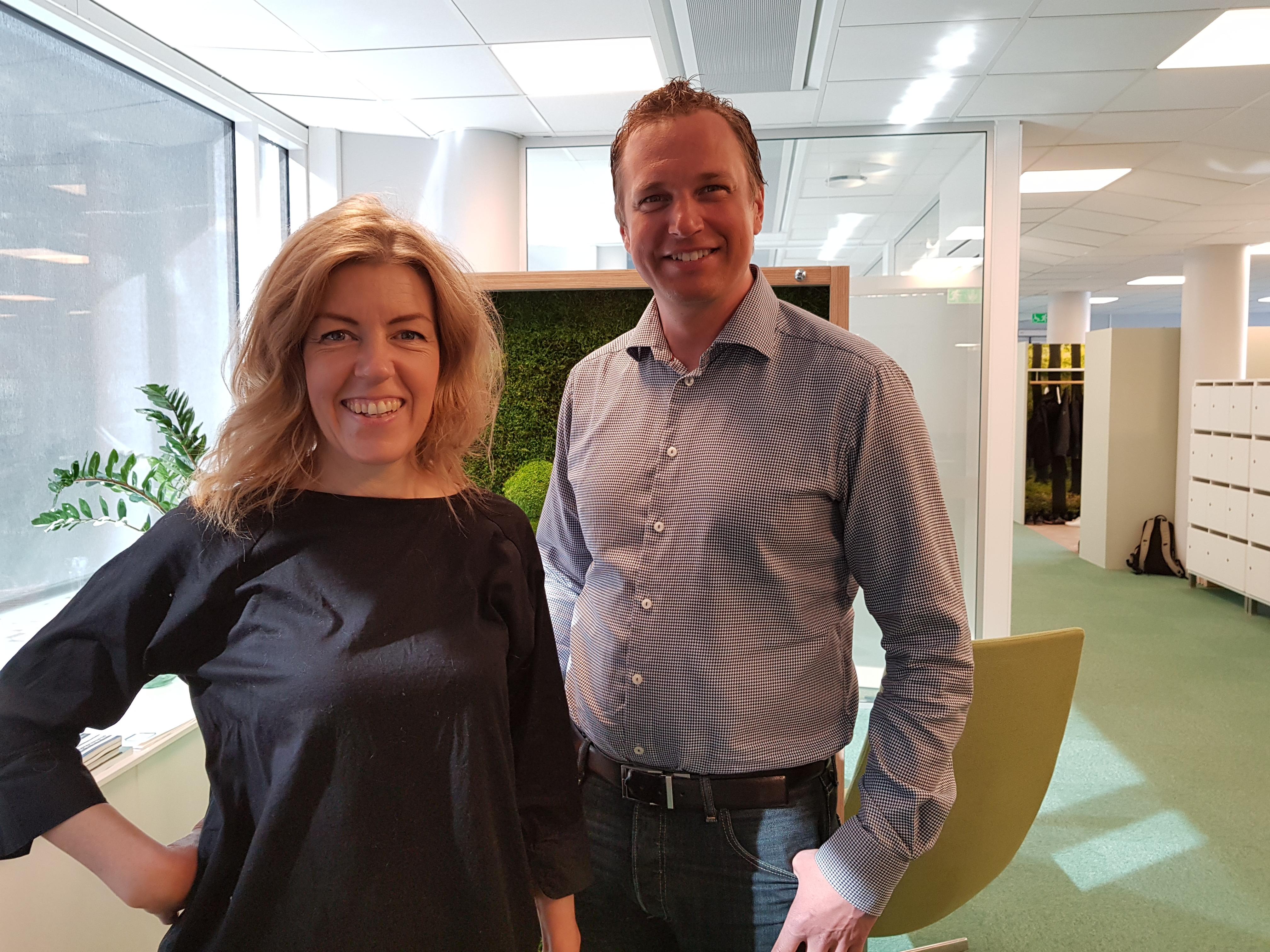 Helena Jerregård & Peter Wallin på PiiAs projektkontor
