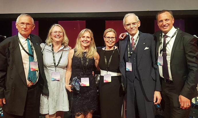 Delar av juryn för Swedish steel prize.