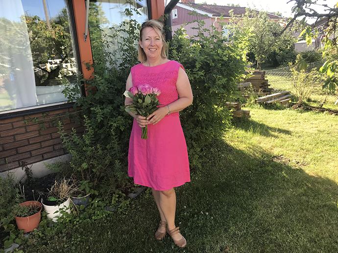 Malin Rosqvist redo för barnens skolavslutning