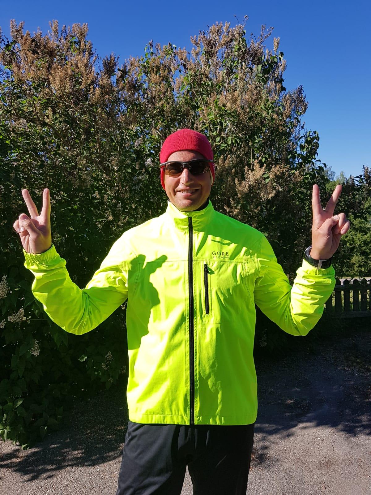 Peter Wallin värmeadapterar inför Stockholm maraton