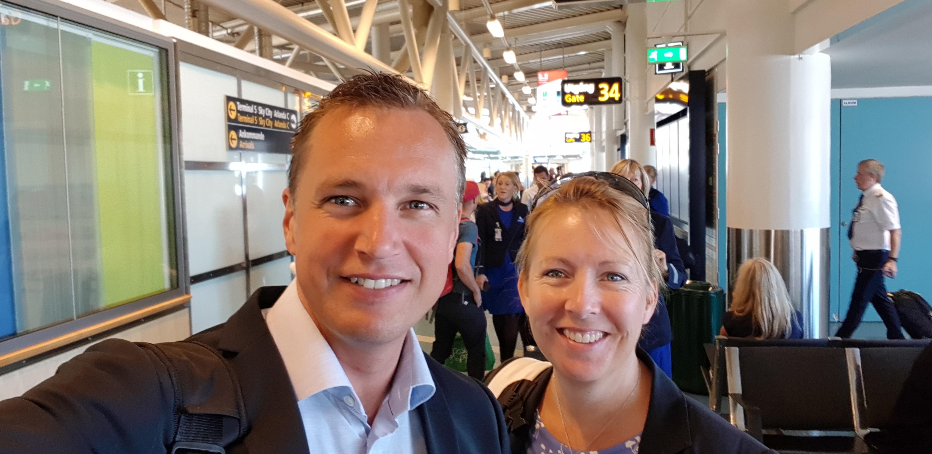 Peter Wallin & Malin Rosqvist på väg mot Almedalen