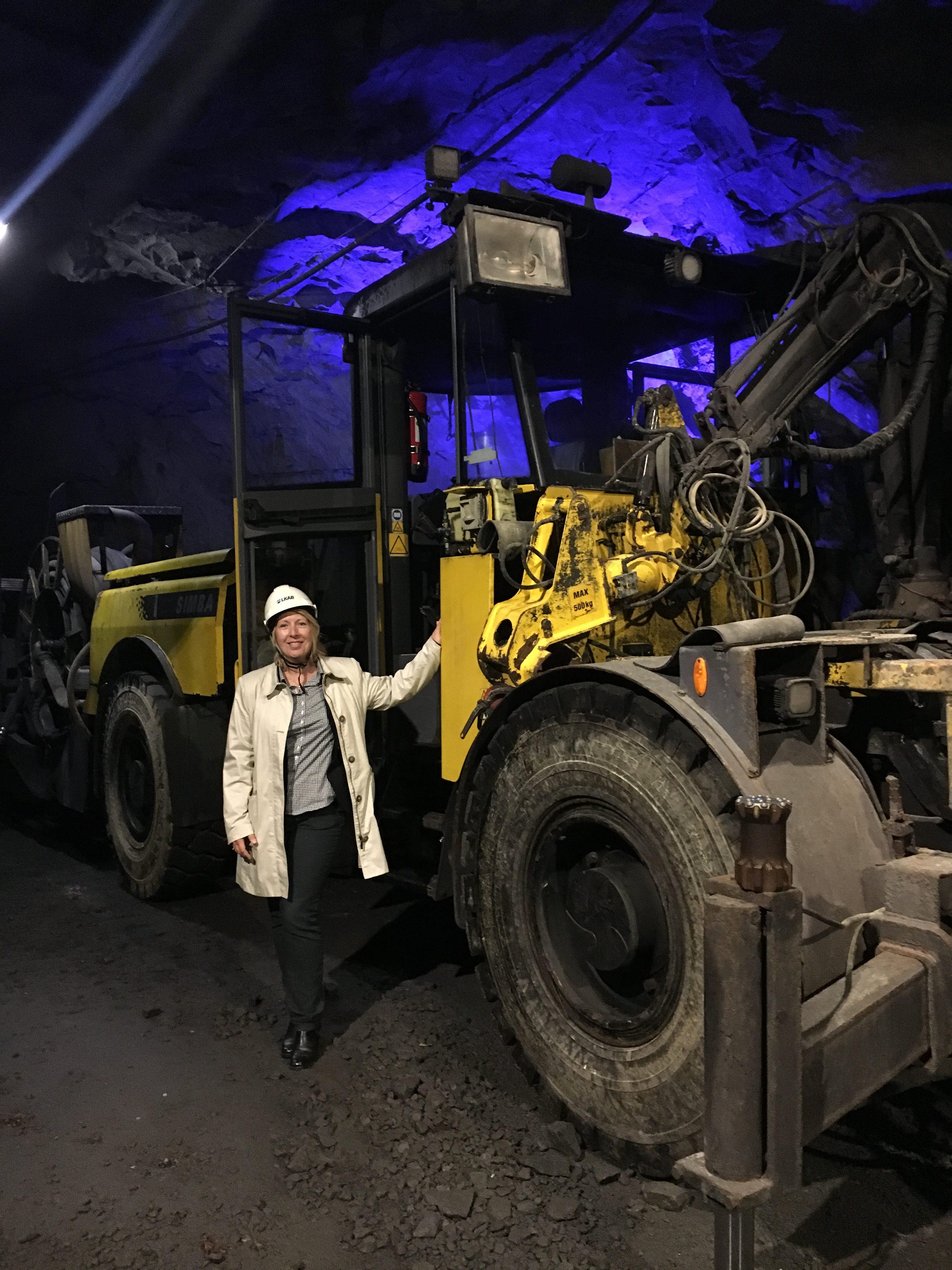 Malin Rosqvist i gruvmiljö