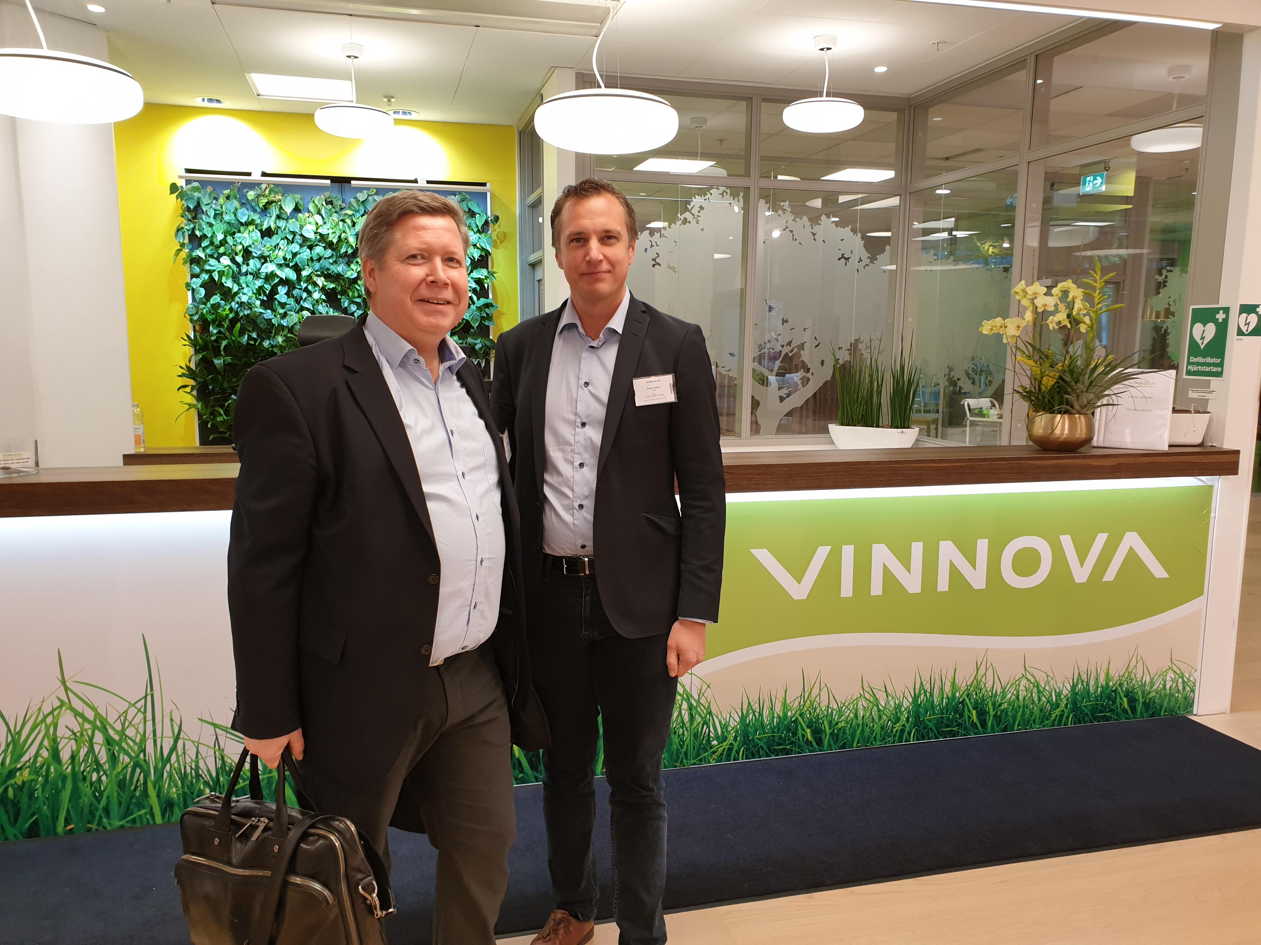Mikael Dahlgren & Peter Wallin på Vinnova