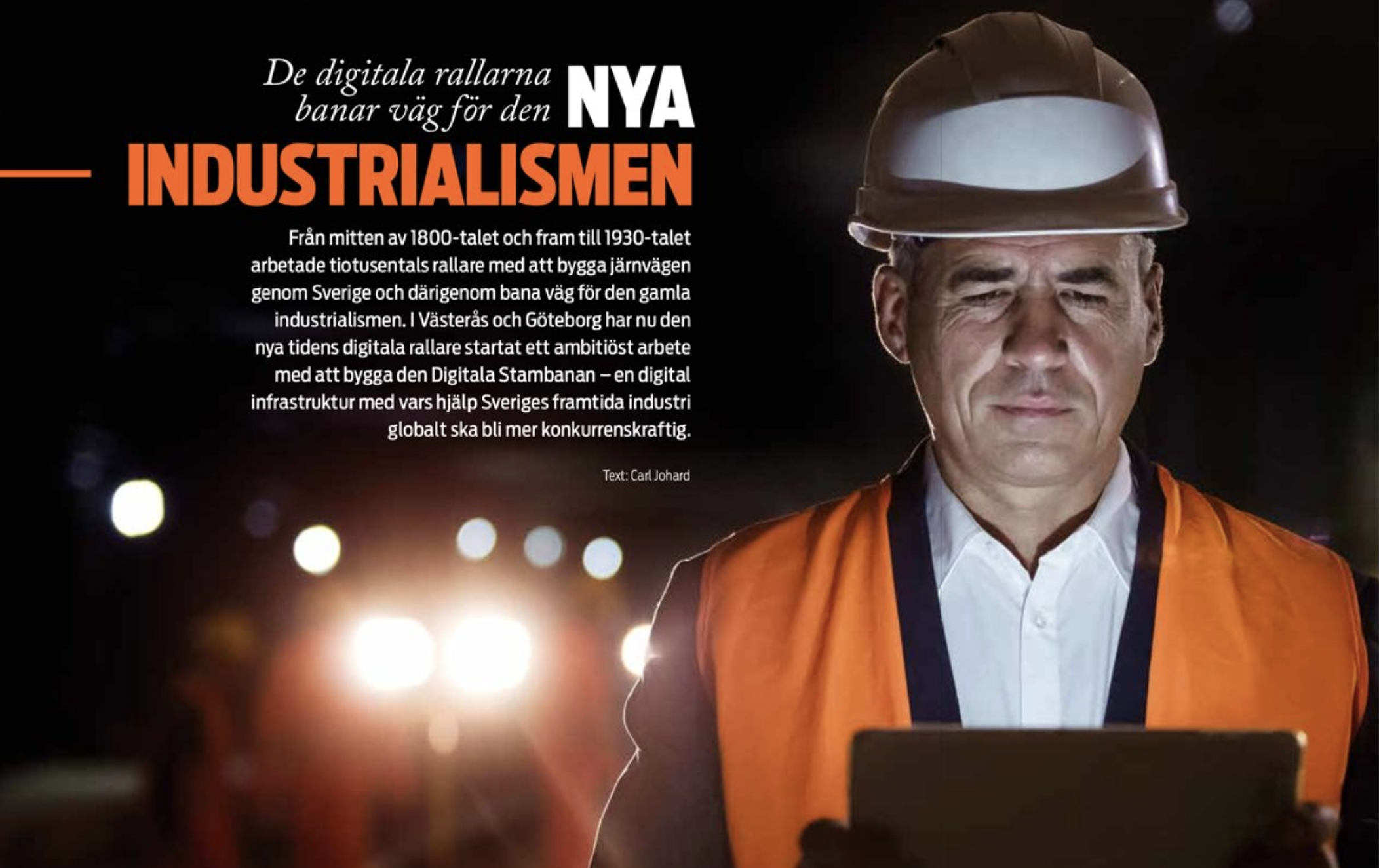 Artikel i tidningen WE om Digitala Stambanan