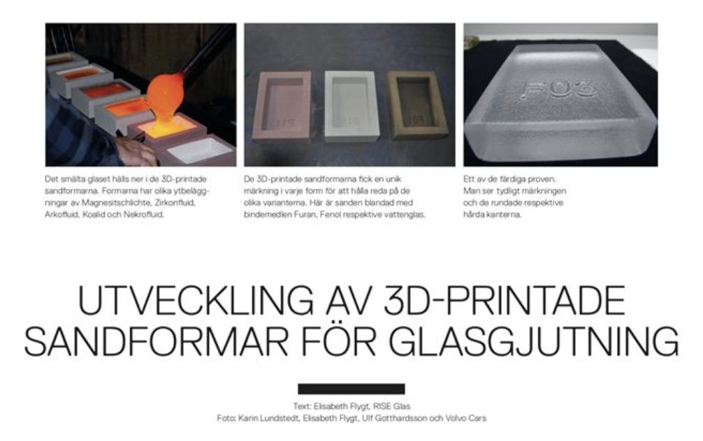 Tidningen Glas, 3D-print