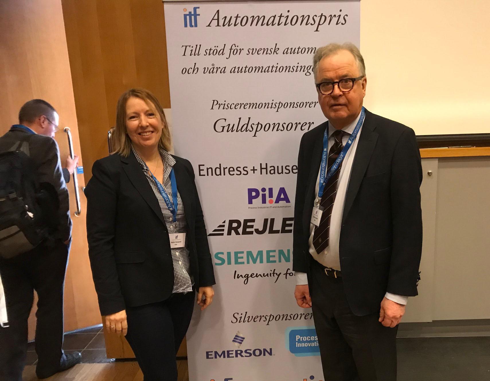 Malin Rosqvist och Örjan Larsson på gårdagens ITF Automationsdagar.