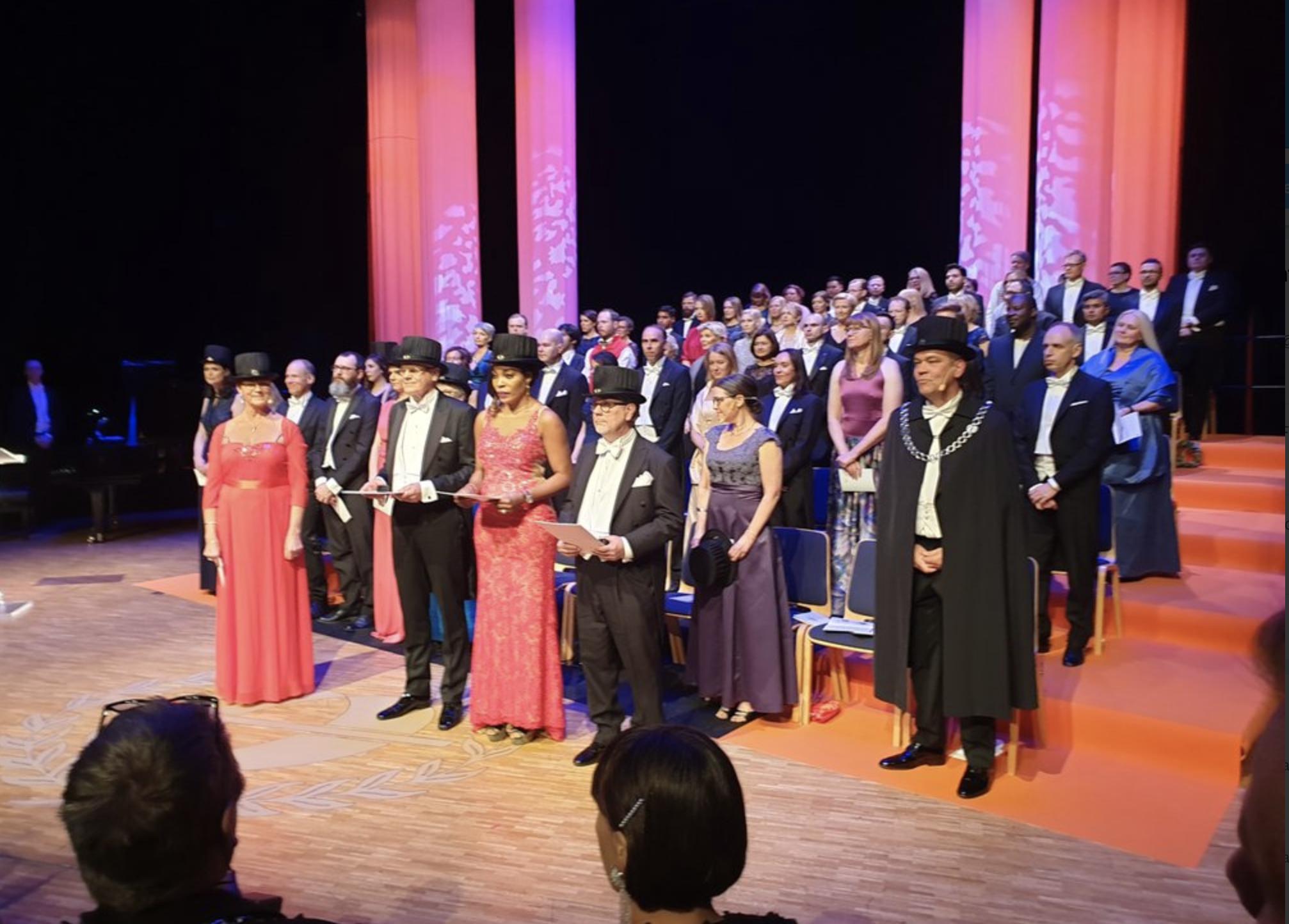 Promotion av nya hedersdoktorer vid Mälardalens Högskola