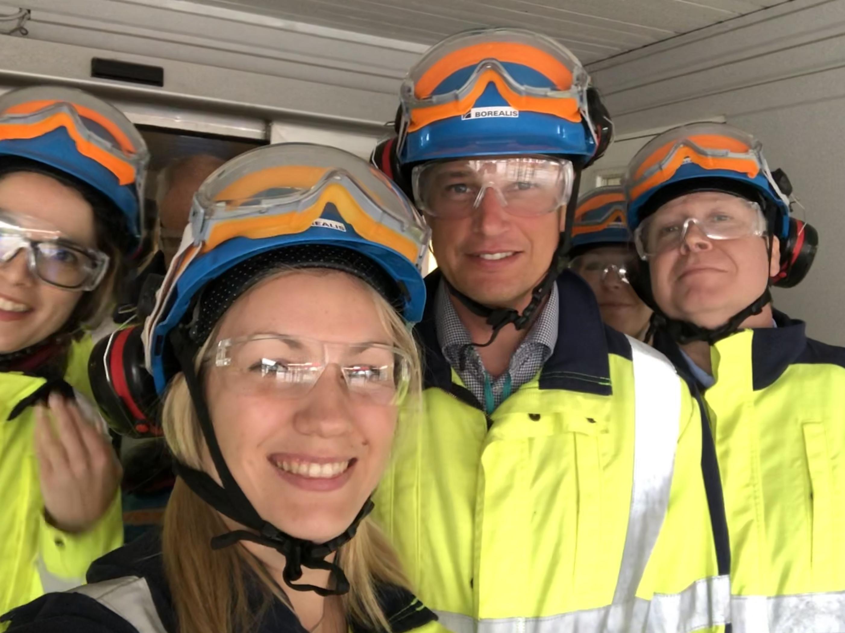 Hos Borealis i Stenungsund
