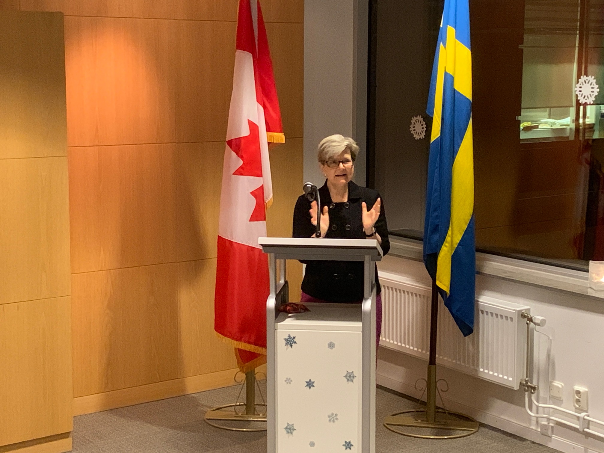 Kanadensiska ambassadören Heather Grant