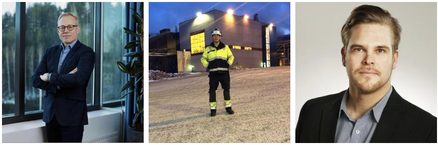 Olle Steffner, director of IP management vid BillerudKorsnäs. Robert Storholm, systemingenjör på BillerudKorsnäs Karlsborgsverken. Tapio Manninen, IT-chef vid Quva Oy.