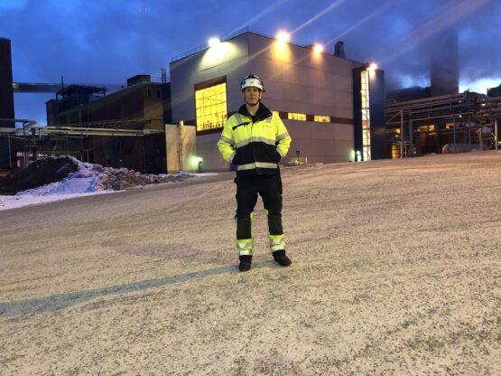Robert Storholm, systemingenjör på BillerudKorsnäs Karlsborgsverken