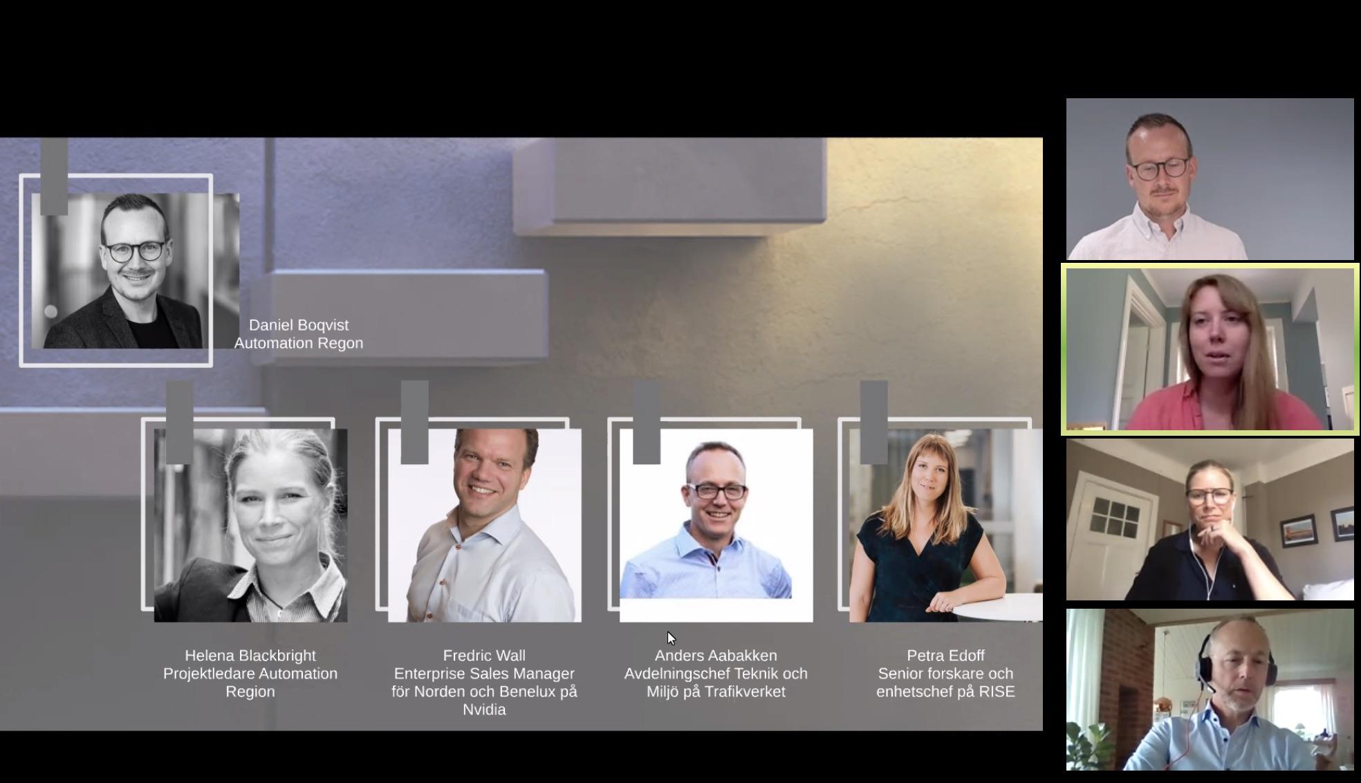 Skärmbild av en presentation från eventet Days of iHubs