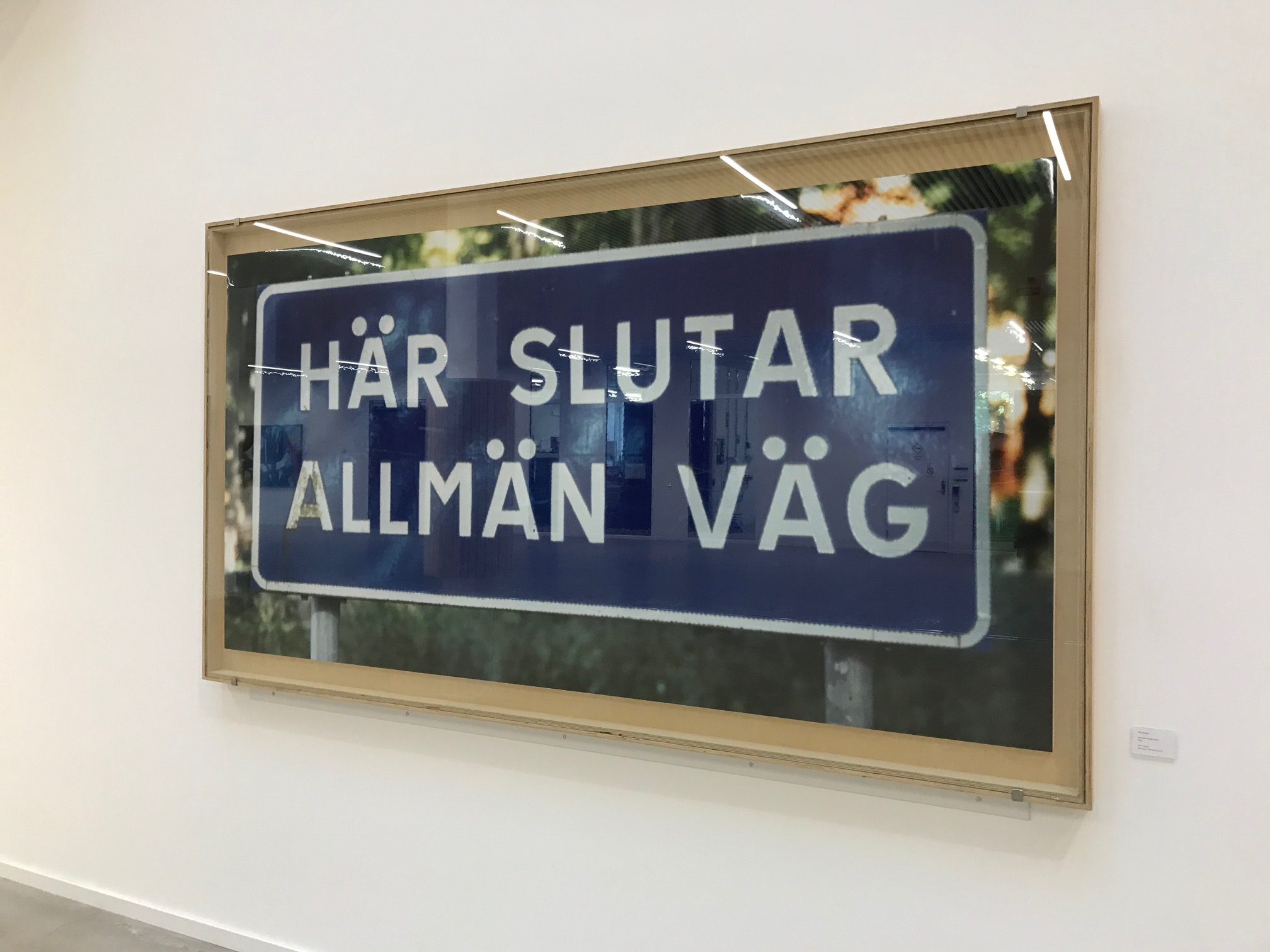 Här slutar allmän väg - kommer från Mälardalens högskola i Eskilstuna