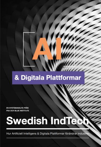 Framsida av rapporten AI & Digitala Plattformar